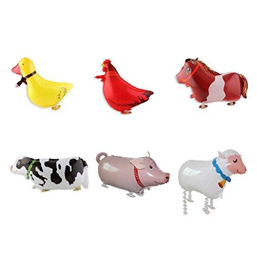 TOYMYTOY Palloncini animali per Regalo Festa di Giorno dei Bambini 6PCS