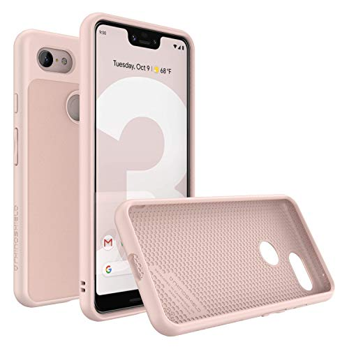RhinoShield Case for Google Pixel 3 XL  SolidSuit] | Shock Absorbent Slim Design Protective Cover with Premium Matte Finish  3.5M/11ft Drop Protection] - Blush Pink