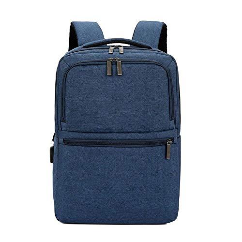 Business Backpack - Sleeve Minimaliste Casual Oxford Waterproof Casual Travel Sac à Dos pour Ordinateur Portable Sac à Dos avec Interface de Recharge USB Casual Bag (Color : Blue)