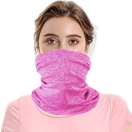 Vafoly Schal Bandanas Halstuch mit Sicherheitskohlefilter, Mehrzweck-Gesichtsabdeckung für Männer und Frauen, Sport/Outdoor, 12 Stück,Rosenrot