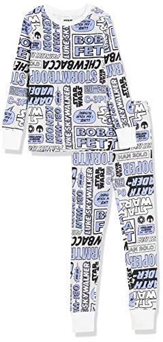 Amazon Essentials Disney Marvel Princess Snug-Fit Cotton Pajamas Sleepwear Sets Conjunto de Pijama, Morado, Cómic De Star Wars, M