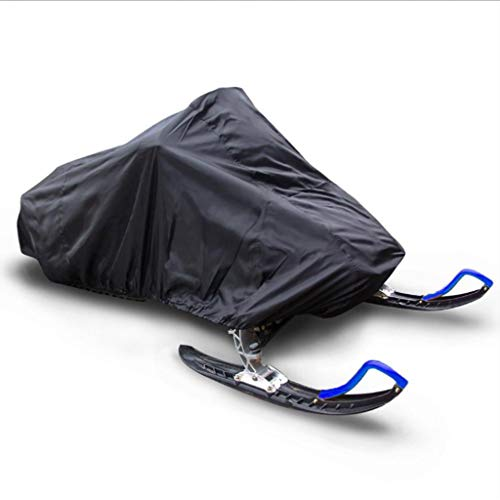 DONGZHI Snowmobile Cover Waterproof Dust Trailerable Sled Cover Storage Anti-UV All-Purpose Cover Winter Motorcyle Outdoor (Color : Black, Size : 292x130x121cm)