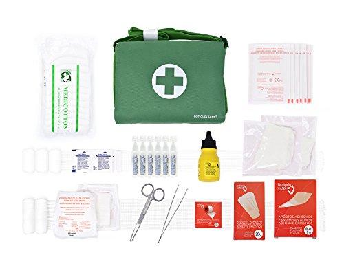 Botiquín BANDOLERA de primeros auxilios con 85 ARTÍCULOS indispensables para realizar curas...