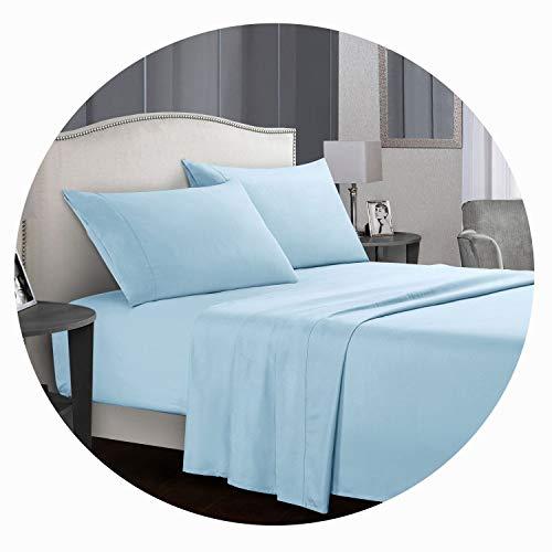Qianqian Paper Crane Bedding Set Brief Bed Linens Flat Sheet+Fitted Sheet+Pillowcase Queen/King Size,6,2pcs Pillowcase