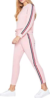 FSSE Women Two Piece Casual Long Sleeve T-Shirts and Pants Sports Outfit Set