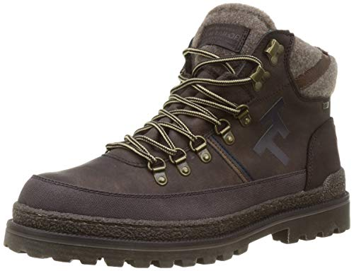Tom Tailor Mens 9080301 Backpacking Boot Bootie Boot, Dkbrown, 11 UK