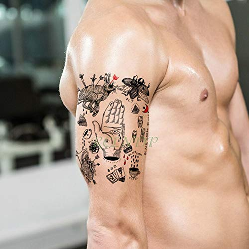 Yyoutop Impermeable Etiqueta Engomada del Tatuaje Temporal Conejo ...