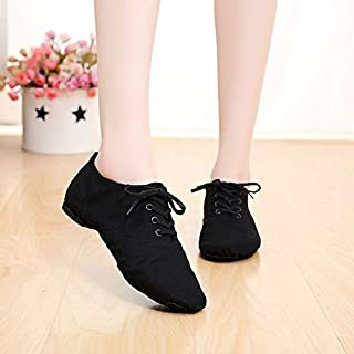BEESCLOVER 2018 New Soft Cloth Dance Jazz Shoes Ballet Shoes for Men Women Children White Black Tan Red Sport Sneakers Lace Up