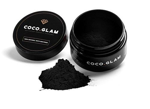 Coco Glam, dentifricio al carbone attivo, polvere di carbone, 30 g, 100% naturale, vegano e prodotto senza crudeltà (etichetta in lingua italiana non garantita)