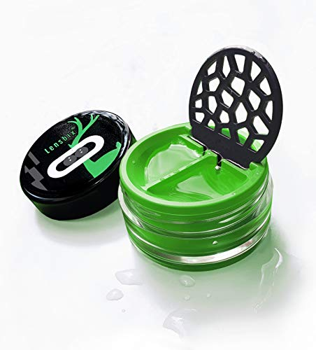 Lensbix Kontaktlinsenbehälter. Das perfekte Geschenk für Linsenträger. Die innovative Art der Aufbewahrung. In Geschenkverpackung. Green Deer (grün)