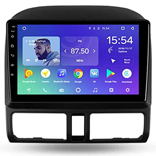 XBRMMM Estéreo Navegación para Automóvil Android 9.1 con Pantalla Táctil 9 Pulgadas para Honda CR-V 2001-2006 Radio Multimedia para Automóvil, WiFi/4G, Compatible con RDS DSP FM BT