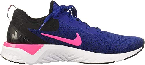 Nike Womens Odyssey React Running Trainers AO9820 Sneakers Shoes (UK 5.5 US 8 EU 39, deep Royal Blue Pink Blast 403)