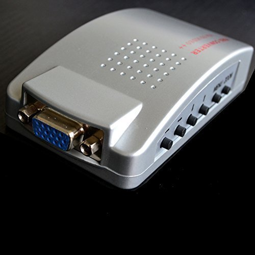 DecentGadget PC VAG To AV Composite Video RGB Converter/AV TV RCA S-Video