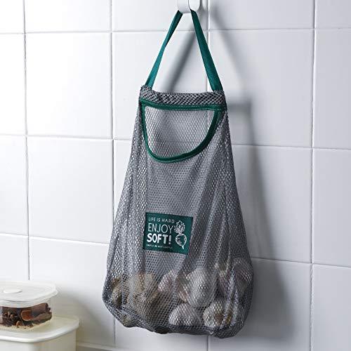 Verde de malla Bolsa de la compra reutilizables de almacenamiento bolso de...