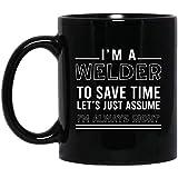 Tazza da caffè in ceramica, con scritta 'I'm a Welder', regalo di Natale, regalo per saldatore, divertente tazza di saldatura, lavori in metallo, decorazione pasquale, idea regalo, 425 ml