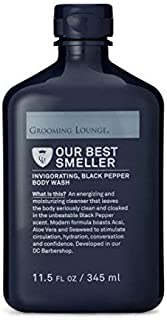Grooming Lounge Best Smeller Men's Hydrating, Moisturizing Body Wash, Peppercorn