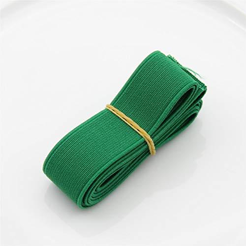 Tings 1 meterkleurrijke elastische band Spendex nylon singels Kledingstuk Broeken Jurk KantversieringKleding Naai-accessoires, donkergroen, breedte 15 mm