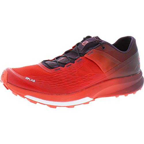 SALOMON S/LAB ULTRA 2 MEN'S TRAIL RUNNING SHOES RACING RED/MAVERICK/WHITE SZ 11