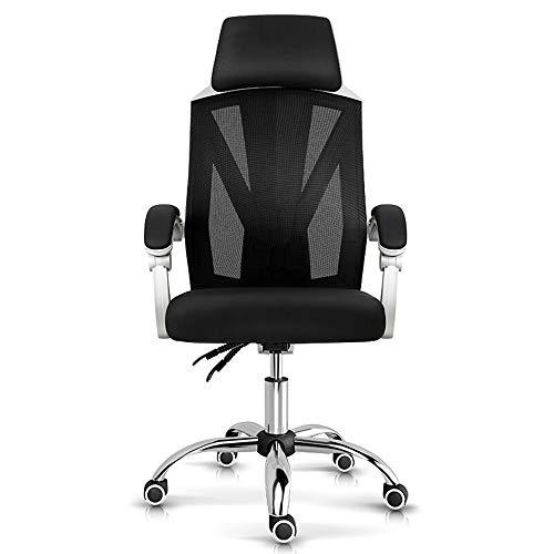 Dfghbn Büro/Manager Hochlehner Vintage Bürostuhl High Back Netz-Bürostuhl Dreh Schreibtisch Stuhl Reclining Computer Stuhl mit Lendenwirbelstütze Gaming-Stuhl (Farbe : Weiß, Größe : Einheitsgröße)