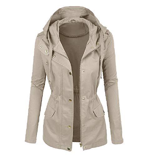 Otoño fuera de las señoras casual chaqueta con capucha chaqueta de señoras casual cremallera cómoda