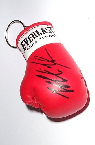 Preisvergleich Produktbild boxing memorabilia Signiert Mini Boxhandschuh Schlüsselanhänger Mike Tyson