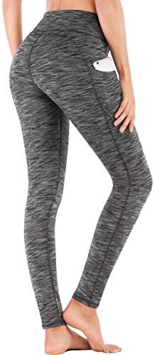 IUGA High Waist Yoga Pants Inner/Out Pocket Design UK840-SD-Charcoal-XSmall