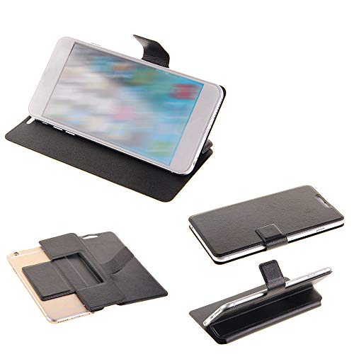 K-S-Trade Schutz Hülle Kompatibel Mit Sharp Aquos C10 Schutzhülle Flip Cover Handy Wallet Hülle Slim Handyhülle Bookstyle Schwarz
