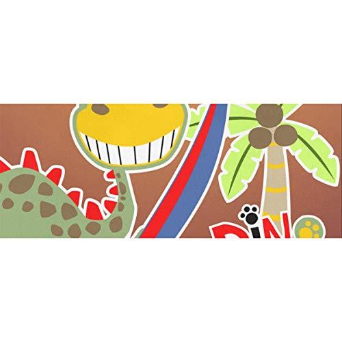 Nette Dinosaurier Der Surfer Geschenkpapier 58x23inch 2 Rollen Geburtstag Geschenkpapier für Frauen Vatertag Geschenkpapier für Muttertag Osterhochzeiten Geburtstage oder jede Gelegenheit