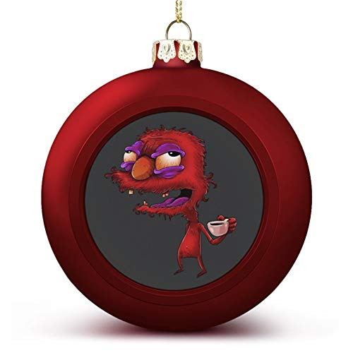 VNFDAS Ses-ame Street Elmo Before Coffee Custom Christmas ball ornaments Beautifully decorated Christmas ball gadgets Perfect hanging ball for holiday wedding party decoration