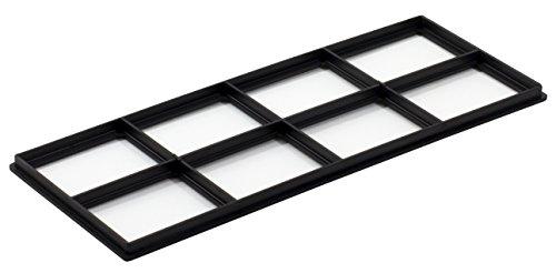 Decor Grates FRP410 Pristene Air Filter Retainer For Decor Grates Registers, 4' By 10', 4 Pack , Black