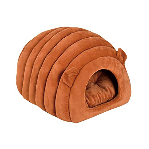 Juesi Cat Bed Cave House, Best for Indoor Cats Houses Heated Kitten Warm Pet Self Warming Caves Igloo Igloo Bed Pet Tent House, BW