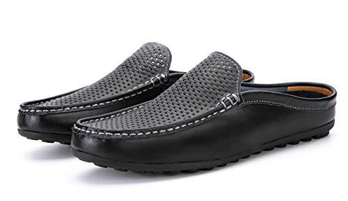 [T.B] メンズ サンダル ビジネス オフィスサンダル 事務所 室内履き 社内履き ドライビングシューズ かかとなし 005-hei-27.5cm-45
