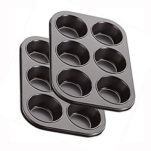 Molde para tartas – puede hacer 6 pasteles al mismo tiempo – Sartén – Molde de acero inoxidable – Molde para magdalenas
