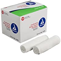 Dynarex conforming stretch gauze bandages, non-sterile 4 inchx4.1 yards - 12 rolls/box by Non Sterile Gauze Sponge