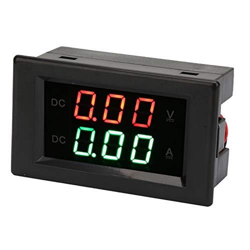 Ampere Meter Voltmeter, Volt Amp Meter, DC0~100V 20A Digital Voltmeter Amperemeter Panel, Dual Display Integrierte Spannung Ampere Meter