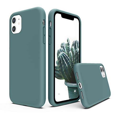 SURPHY iPhone 11 Hülle, iPhone 11 Hülle Silikon, iPhone 11 Case, Liquid Silikon Handyhülle für iPhone 11 6,1 Zoll (2019) iPhone 11 Silikon Protective Case Cover Schutzhülle Schutzschale, Kaktus