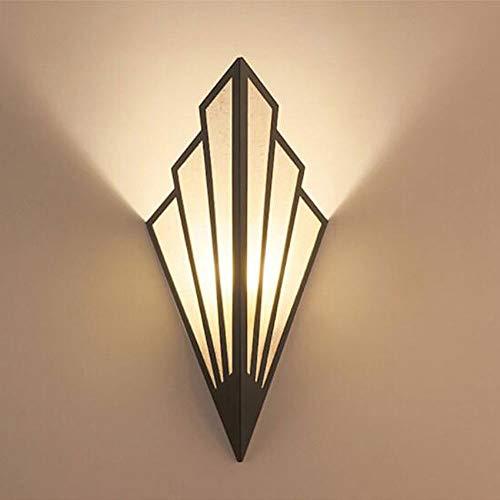 Applique Murale en LED en Forme D'éventail ,Abat-Jour en Fer Forgé D'époque, Applique Murale Art Deco for Salon justement Parfait, Applique Art Deco G9 CUIRUILIAN (Color : Noir, Size : 1pcs)