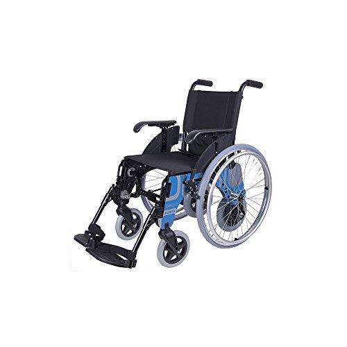 Forta fabricaciones - Silla de aluminio con ruedas interiores FORTA Basic Duo - 44 cm, Basic Azul