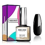 Modelones Gel Top Coat- 10ML No Wipe Top Coat Gel Nail Polish High Gloss Shine Finish Long Lasting Home Manicure with Gift Box