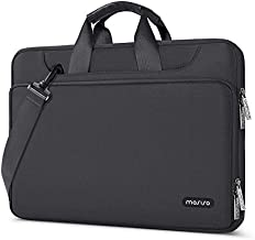 MOSISO 360 Protective Laptop Shoulder Bag Compatible with MacBook Pro 16 inch A2141/Pro Retina A1398, 15-15.6 inch Notebook, Matching Color Handbag Briefcase Sleeve Case with Trolley Belt, Space Gray