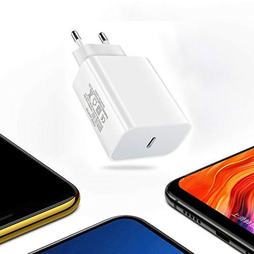 HYwot Bloque de Cargador rápido USB C, PD Adaptador de Corriente USB-C de 18 W Compatible con iPhone 12 Pro MAX 12 Mini/iPhone Todas Las Series, Adaptador de Enchufe diseñado para iPhone
