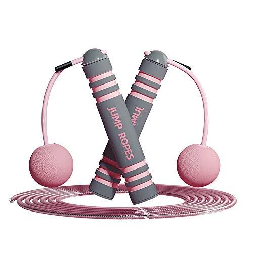 PASLWSSY Cuerda de Saltar, Cuerda de Salto de la Velocidad de la Cuerda sin enredo con rodamientos Bolas rápidas y Mango Espuma Suave para Entrenamientos Fitness Ejercicios Quema Grasa Boxeo