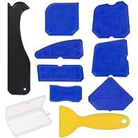 kit aplicador silicona ZoomSky 9 piezas kit herramientas calafateo de junta para eliminar silicona vieja y sellar silicona en bañera o baño