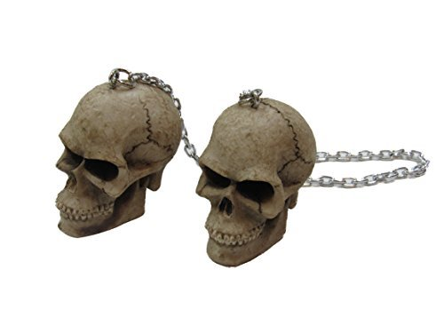 Kool Collectibles Skull Mirror Danglers Chains Awesome Race Accessory Zombie