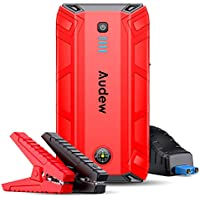 Audew Epower-172 1500A Peak Auto Battery Booster Car Jump Starter 17200mAh 12V Portable Power Pack with Smart Jumper Cable, Quick Charge 3.0, Type-C, LED Flashlight