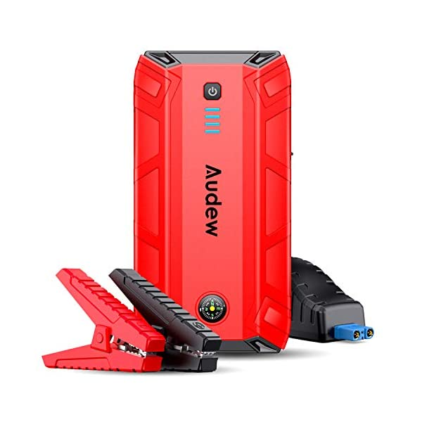 Audew Car Jump Starter,1500A Peak 17200mAh 12V Portable Jump Starter (Up to 8L Gas...