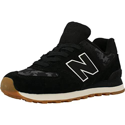 New Balance Herren ML574 Sneaker, Schwarz/Grau, 40 EU
