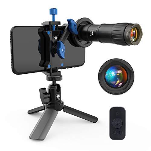 SIRUI 400mm Telephoto Phone Lens Kit Including Table Tripod, Bluetooth, Telephoto Lens, Cage, Storage Case (TL-400)