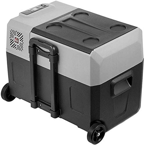 Lunchbox.com 50L Nevera Auto-Frigorífico 12V 24V 220V De Doble Uso Portable Mini Compresor del Refrigerador del Coche para El Coche,...