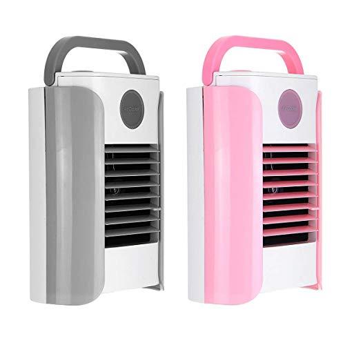 Mini ventilador de refrigeración de aire de 3 marchas para equipo eléctrico con USB, portátil, ventilador de mesa Bluetooth/Broadcast (color: rosa)